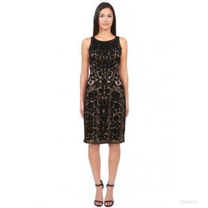 NWT 4 Sue Wong high neck embroidered dress